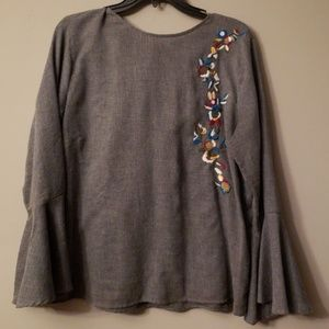 Beautiful Embroidered Grace Elements Top